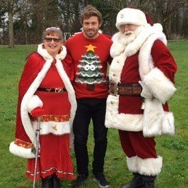 leigh, santa and mrs claus