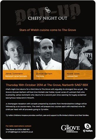 chefs night out pop up