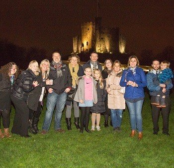 Arriva staff enjoying Carols at the Castle