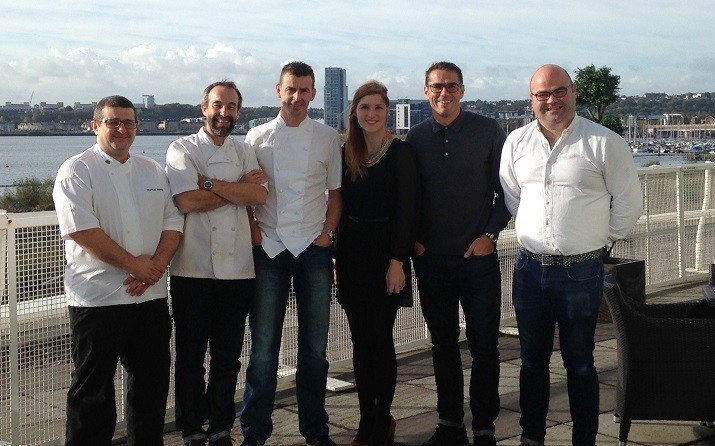 Chefs with David Loosemore and Mair Kinsey